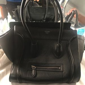 Black Celine Mini luggage